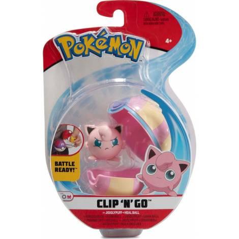 Jazwares Pokemon Clip 'N' Go Jigglypuff Figure & HealBall
