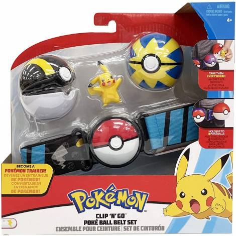 Jazwares : Pokemon Clip 'n' Go Poke Ball Belt Set - Pikachu (98005)