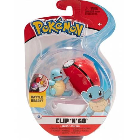 Jazwares - Pokemon: Poke Ball Clip N Go με φιγούρα - Squirtle And Poke Ball - W8 (JW095057-C)