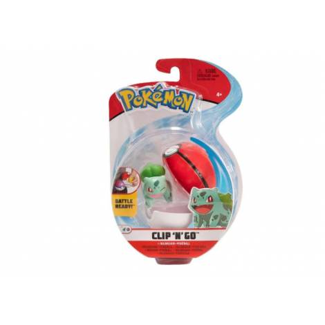Jazwares - Pokemon: Poke Ball Clip N Go με φιγούρα - Bulbasaur And Poke Ball - W8 (JW095057-C)