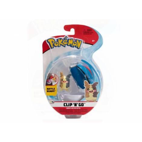 Jazwares - Pokemon: Poke Ball Clip N Go με φιγούρα - Morpeko Full Belly Mode And Great Ball - W8 (JW095057-C)
