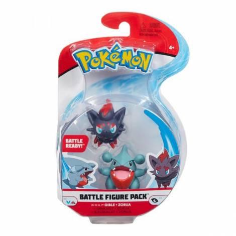 Jazwares Pokemon Battle Figure Pack Gible + Zorua