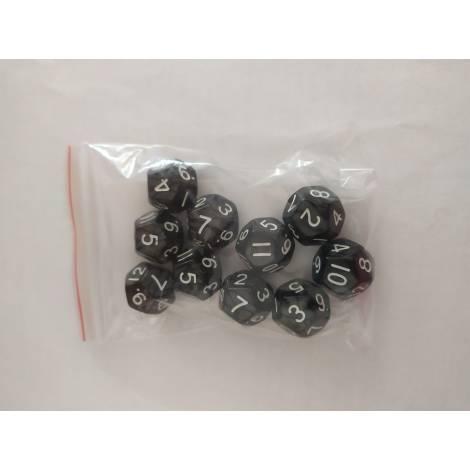 ΚΑΙΣΣΑ  10 Pearl D12 Black/White  Dice (KA113544)