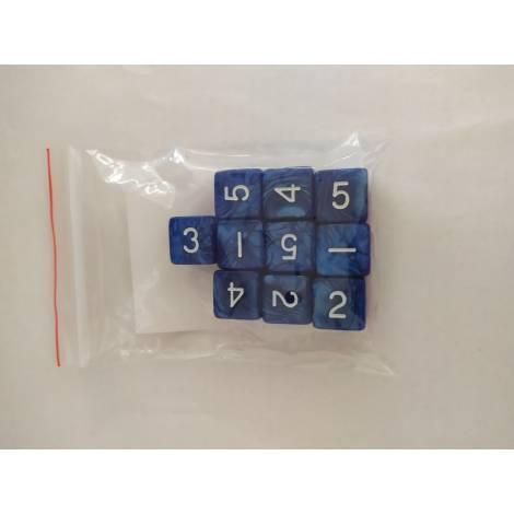 ΚΑΙΣΣΑ  10 Pearl D6 Blue/White Dice (KA113254)