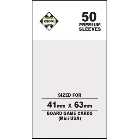 Κάισσα – Premium Sleeves 41x63 (Mini USA) (50 sleeves)