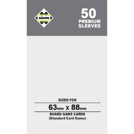 Κάισσα – Premium Sleeves 63x88 (Card Game) (50 sleeves)
