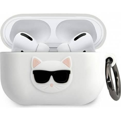 Karl Lagerfeld Choupette Fun Λευκή θήκη για Apple AirPods Pro