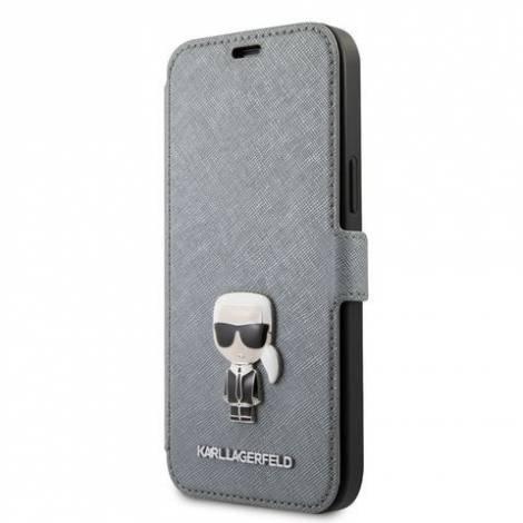Karl Lagerfeld Iconic Book Δερματίνης Γκρι (iPhone 12 Pro )