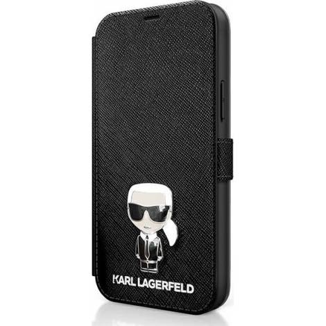 Karl Lagerfeld Iconic Book Δερματίνης Μαύρο (iPhone 12 / 12 Pro)