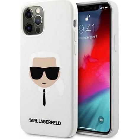 Karl Lagerfeld Karl's Head Back Cover Σιλικόνης Λευκό (iPhone 12 / 12 Pro)