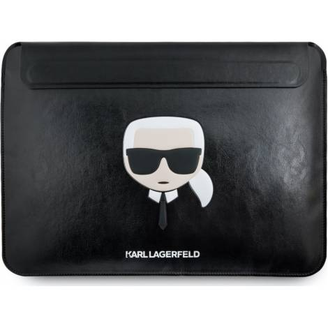 """KARL LAGERFELD KARL'S HEAD COLLECTION – SLEEVE ΠΡΟΣΤΑΣΙΑΣ PU LEATHER – MACBOOK AIR 13"""" / MACBOOK PRO 13"""" (ΜΑΥΡΟ)"""