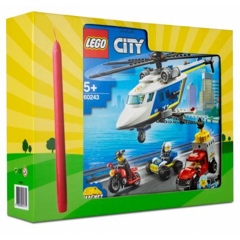 LEGO City Police Helicopter Chase  (60243) & λαμπάδα
