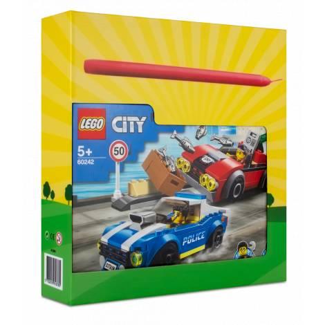LEGO City Police Highway Arrest  (60242) & λαμπάδα