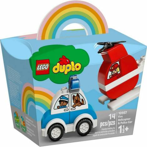 LEGO DUPLO My First: Fire Helicopter & Police Car (10957)