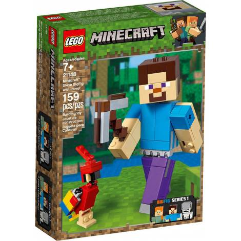 Lego Minecraft Steve Bigfig With Parrot (21148)