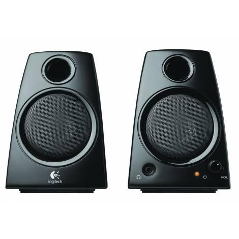 Logitech Z130 2.0 Stereo Speakers Black (980-000418)
