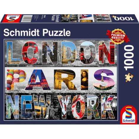 London, Paris, New York 1000pcs (58348) Schmidt Spiele