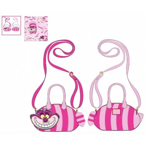 Loungefly Disney Alice In Wonderland Cheshire Cat Applique Cross Body Bag (WDTB2234)
