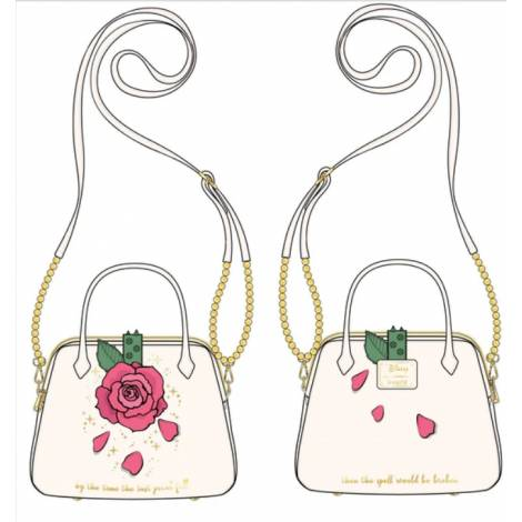 Loungefly Disney Beauty And The Beast Rose Crossbody Bag (WDTB2188)