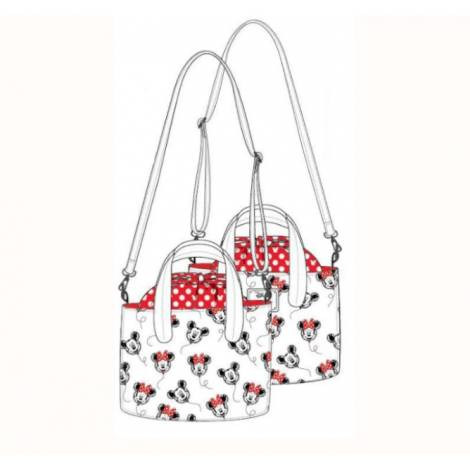 Loungefly Disney Mickey-Minnie Balloons AOP Handbag (WDTB2186)