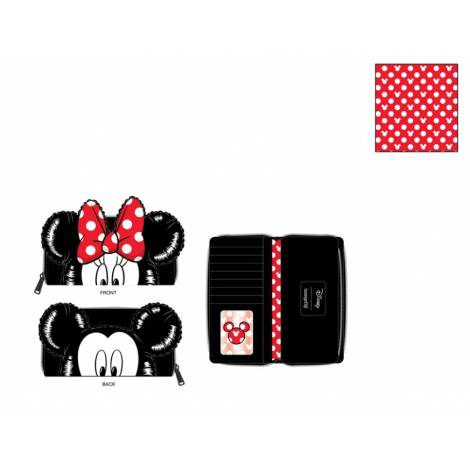 Loungefly Disney Mickey-Minnie Balloons Cosplay Zip Around Wallet (WDWA1595)