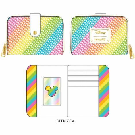Loungefly Disney Sequin Rainbow Zip Around Wallet (WDWA1668)
