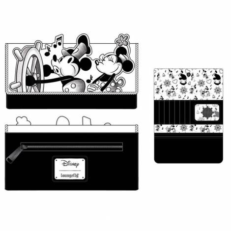 Loungefly Disney Steamboat Willie Music Cruise Flap Wallet (WDWA1666)