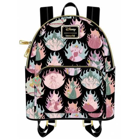 Loungefly Disney Villains Pastel Flames AOP Mini Backpack (WDBK1533)