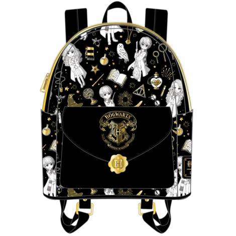 Loungefly Harry Potter Magical Elements AOP Mini Backpack (HPBK0131)