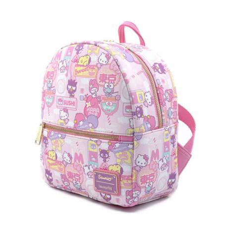 Loungefly Hello Kitty - Kawaii AOP Convertible Mini Backpack (SANBK0371)