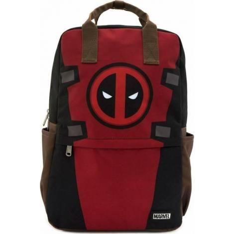 Loungefly Marvel: Deadpool Cosplay Square Nylon Backpack (MVBK0093)