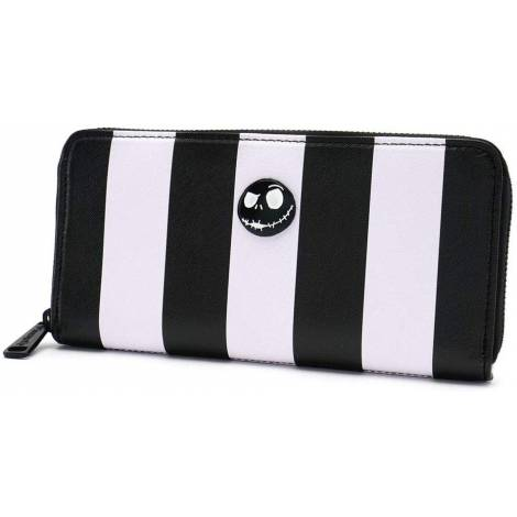 Loungefly - Nightmare Before Christmas Striped Zip Around Wallet (WDWA0786)