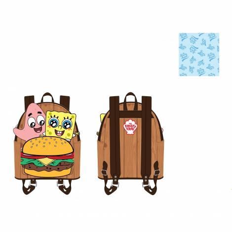 Loungefly Spongebob Crabby Patty Group Mini Backpack (NICBK0034)