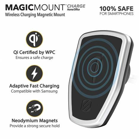 Scosche Magic Mount Pro Charge Vent - Wireless Fast Charging Magnet Mount (MPQ2V-XTSP)