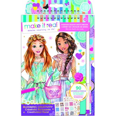 Make it Real: Fashion Design Sketchbook - Blooming Creativity (3202)
