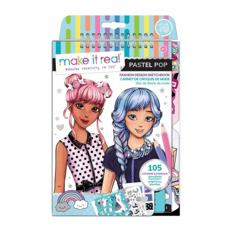 Make it Real - Fashion Design Sketchbook - Pastel Pop! (3205)