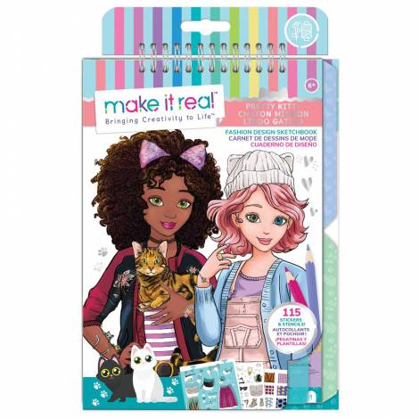 Make it Real - Fashion Design Sketchbook - Pretty Kitty (3204)