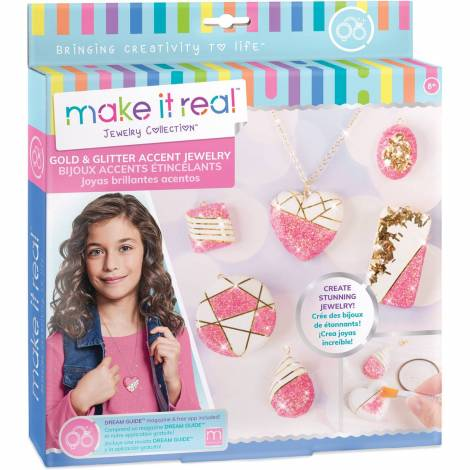 Make it Real - Gold & Glitter Accent Jewelry (1308)