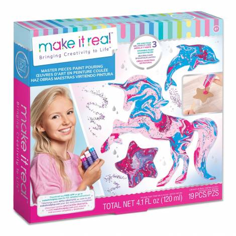 Make it Real - Master Pieces Paint Pouring (1410)