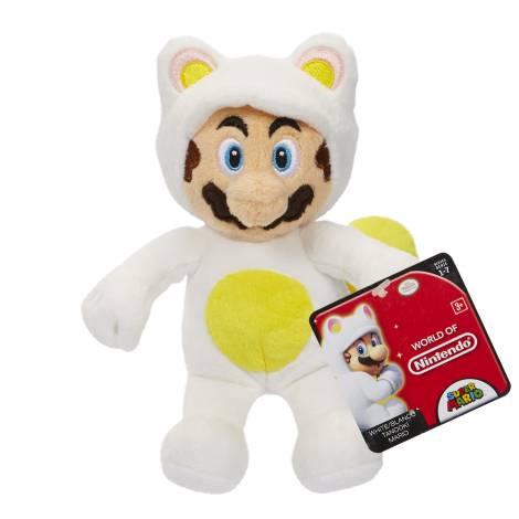 Jakks Pacific  Mario Bros U Plush White Tanooki Mario Series 7 (15cm)