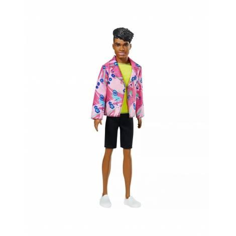 Mattel Barbie 60 Years Ken Doll: Inspired by 1985 Rocker Deker Look Neon Top (GRB44)