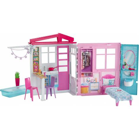 Mattel Barbie Close & Go! Fully Furnished House (60cm) (FXG54)