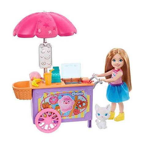 Mattel Barbie Club Chelsea - Chelsea and Snack Cart Playset (GHV76)