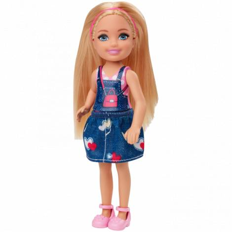 Mattel Barbie Club Chelsea Mini Girl Doll - Blonde Doll In Jean Skirt (GHV65)