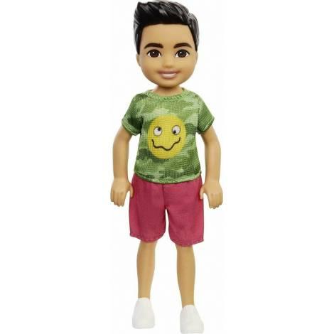 Mattel Barbie Club Chelsea Mini Girl Doll - Camo T-Shirt Boy Doll (GXT37)