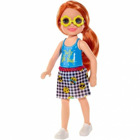 Mattel Barbie Club Chelsea Mini Girl Doll - Just Be You Tee Orange Hair Girl Doll (FXG81)