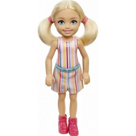 Mattel Barbie Club Chelsea Mini Girl Doll - Striped Print Skirt Blond Doll (GXT38)