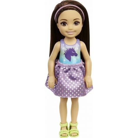 Mattel Barbie Club Chelsea Mini Girl Doll - Tie-Dye Shirt Black Hair Doll (GXT39)