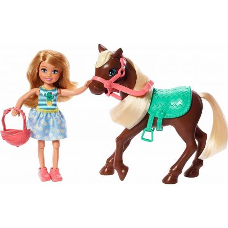 Mattel Barbie Clun Chelsea - Doll And Pony (GHV78)