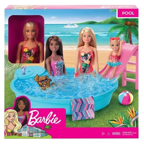Mattel Barbie - Doll and Pool Playset (GHL91)